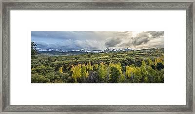 Mountains Of Ridgeway Framed Print by Jon Glaser