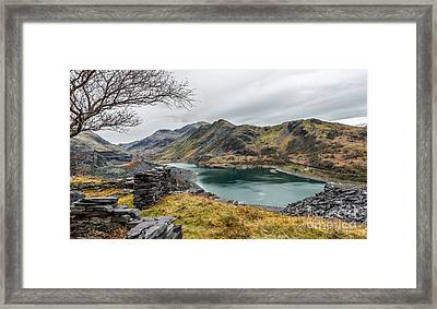 Mountains Of Snowdonia Framed Print by Adrian Evans