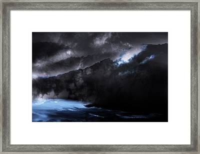 Framed Print featuring the photograph Mountains Of The Blue Ridge by Gray  Artus