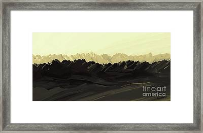 Mountains Of The Mohave Framed Print
