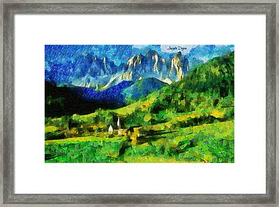 Mountains Paradise - Pa Framed Print