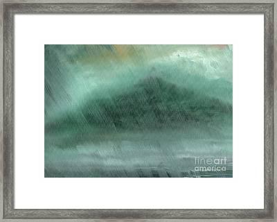 Mountains  Rain Framed Print