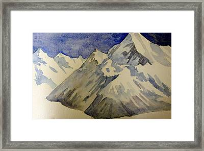 Framed Print featuring the painting Mountains by Steven Holder
