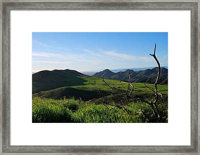 Framed Print featuring the photograph Mountains To Valley View by Matt Harang