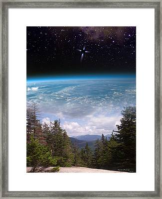 Mountaintop Space View Framed Print by Patrick J Maloney