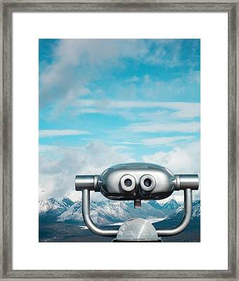 Mountaintop View Framed Print by Kim Fearheiley