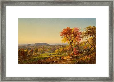 Mounts Adam And Eve Framed Print by Jasper Francis Cropsey