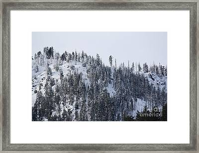 Mounts And Snow Framed Print