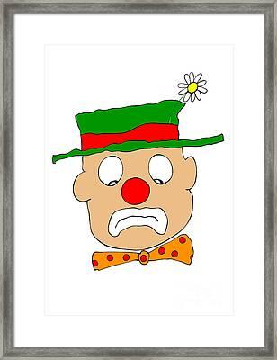 Mournful Clown Framed Print by Michal Boubin