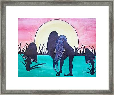 Mourning Framed Print by Amy Lauren Gettys
