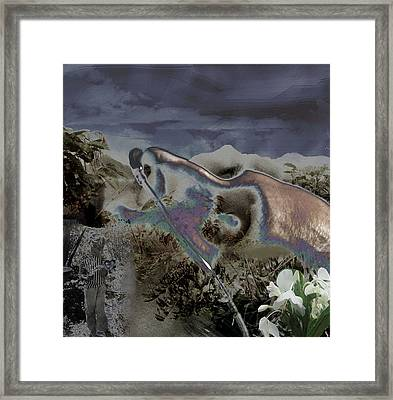 Framed Print featuring the digital art Mourning by Aurora Levins Morales
