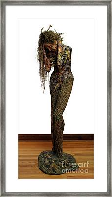 Mourning Moss A Sculpture By Adam Long Framed Print by Adam Long