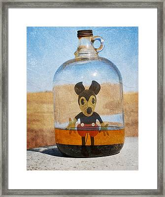 Mouse In A Bottle  Framed Print by JC Photography and Art