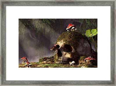 Mouse In A Skull Framed Print