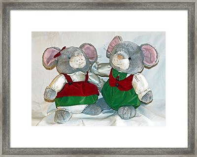 Mouse Love Framed Print by Allan  Hughes