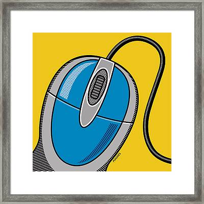 Framed Print featuring the digital art Computer Mouse by Ron Magnes