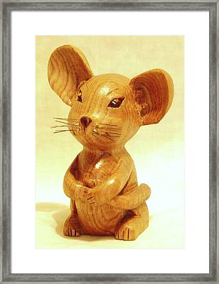 Mouse Framed Print by Russell Ellingsworth