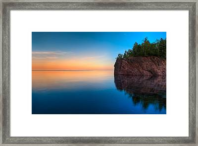 Mouth Of The Baptism River Minnesota Framed Print by Steve Gadomski