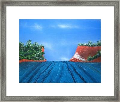 Mouth Of The Hay River Framed Print