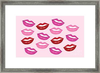 Mouthing Off Print Framed Print by Lauren Amelia Hughes