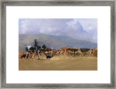 Move Em Out Framed Print
