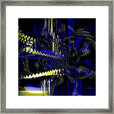 Move  With Greater Intensity Framed Print by Fania Simon