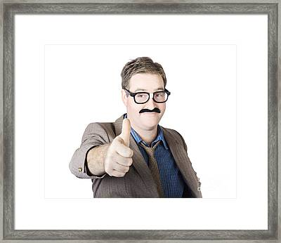 Movember Man Proud Of His Moustache Framed Print