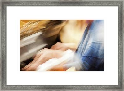 Piano Moves -  Framed Print