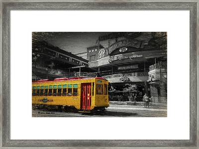Movico 10 And Trolley Framed Print