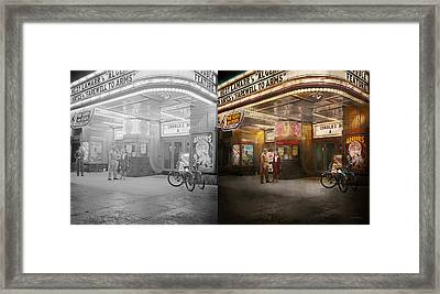 Movie - Double Feature 1942 - Side By Side Framed Print by Mike Savad