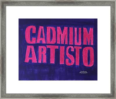 Movie Logo Cadmium Artisto Framed Print