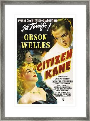 Movie Poster For Citizen Kane. Framed Print