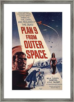 Movie Poster For Plan  Framed Print by MotionAge Designs
