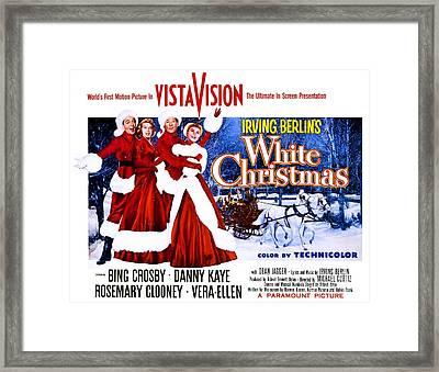 Movie Poster For White Christmas Framed Print