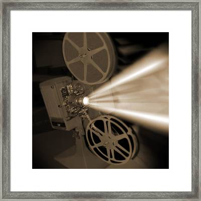 Movie Projector  Framed Print by Mike McGlothlen