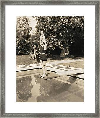 Movie Star About To Dive Framed Print