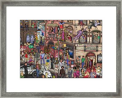 Movie Stars Framed Print by Matan Kohn