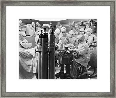 Movie Still Operating Room Framed Print by Underwood Archives