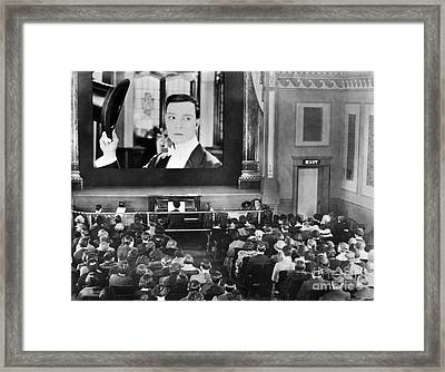 Movie Theater, 1920s Framed Print