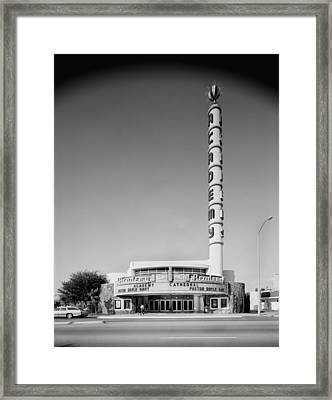 Movie Theaters, The Academy Theater Framed Print by Everett
