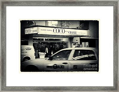 Movie Theatre Paris In New York City Framed Print by Sabine Jacobs