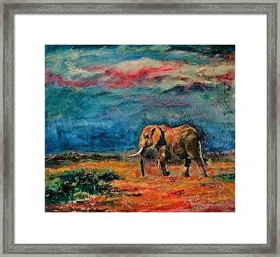 Moving Away Framed Print by Khalid Saeed
