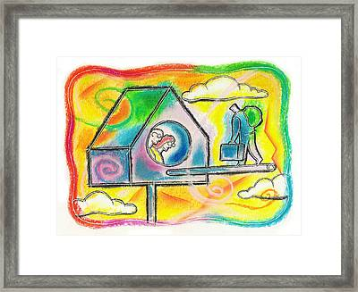 Moving Back To Your Parents Home  Framed Print by Leon Zernitsky