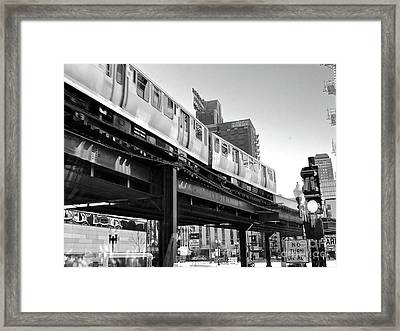 Moving Boxes Line Framed Print by Trish Hale