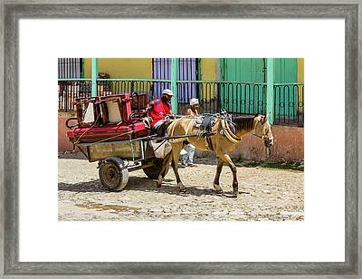 Moving Day In Trinidad Framed Print by Dawn Currie