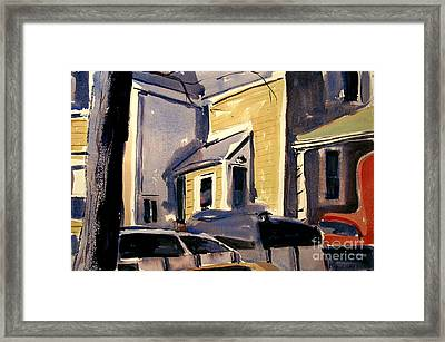 Framed Print featuring the painting Moving Day Matte Glassed Framed by Charlie Spear