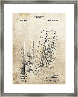 Moving Dolly Patent Framed Print by Dan Sproul