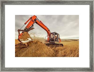 Moving Earth Framed Print