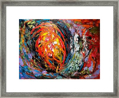 Framed Print featuring the painting Moving Energy by Nicolas Bouteneff