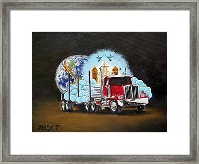 Moving Heaven And Earth  Framed Print